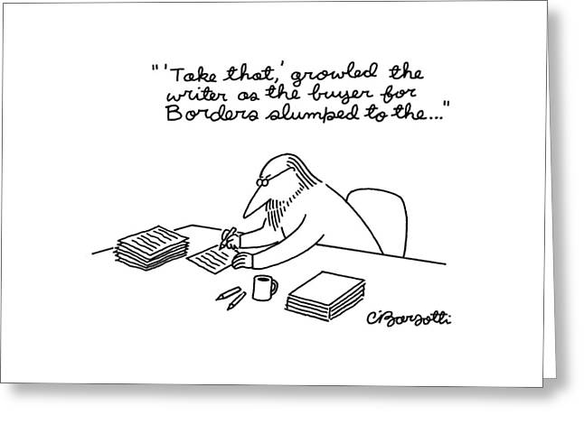 New Yorker March 23rd, 1998 Greeting Card by Charles Barsotti