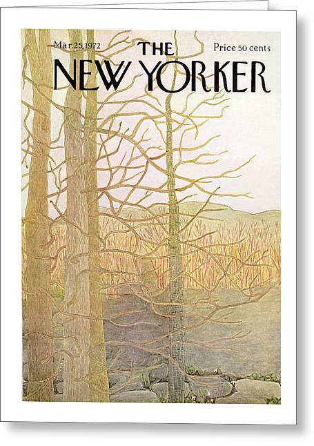 New Yorker March 25th, 1972 Greeting Card