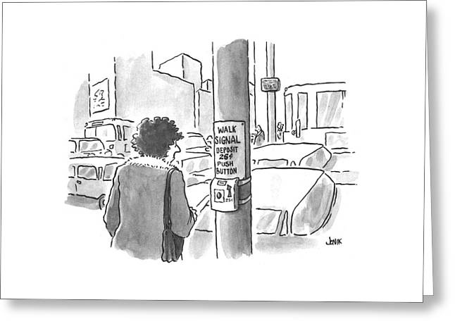 New Yorker March 25th, 1996 Greeting Card