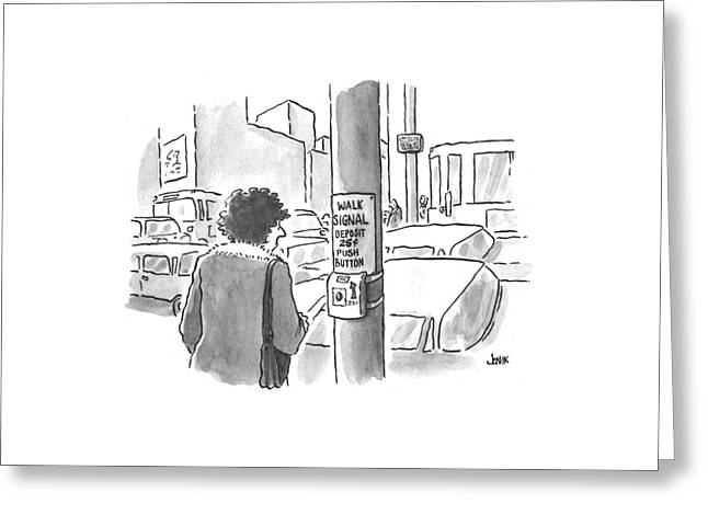 New Yorker March 25th, 1996 Greeting Card by John Jonik