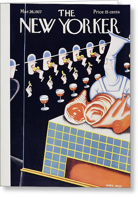 New Yorker March 26 1927 Greeting Card