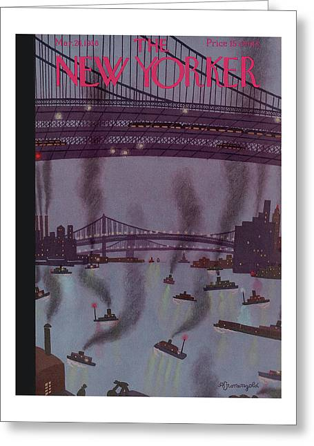 New Yorker March 26th, 1938 Greeting Card