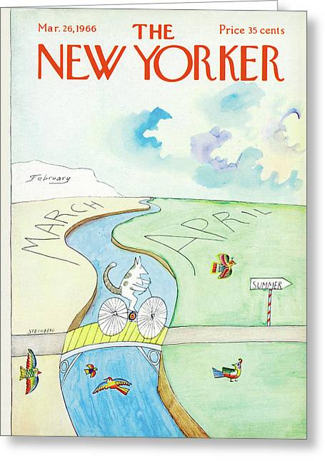 New Yorker March 26th, 1966 Greeting Card