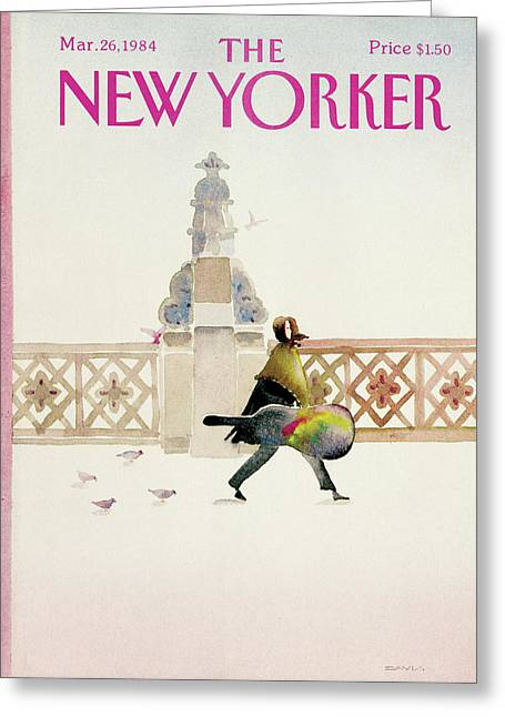 New Yorker March 26th, 1984 Greeting Card