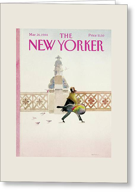 New Yorker March 26th, 1984 Greeting Card by Susan Davis