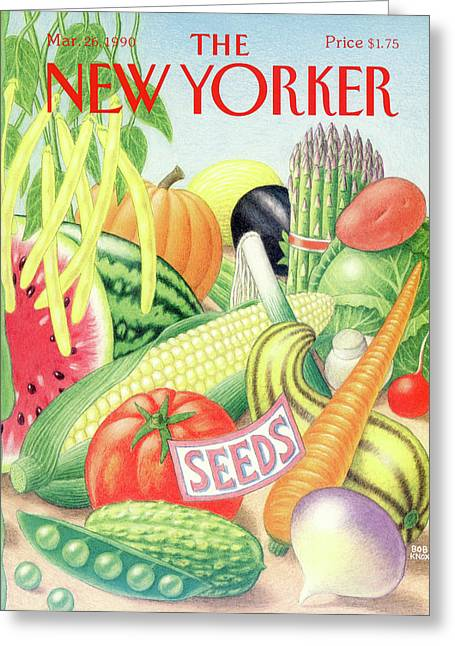 New Yorker March 26th, 1990 Greeting Card