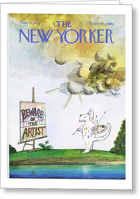 New Yorker March 27th, 1971 Greeting Card