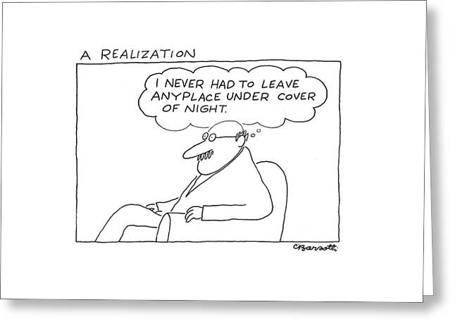New Yorker March 27th, 1978 Greeting Card by Charles Barsotti