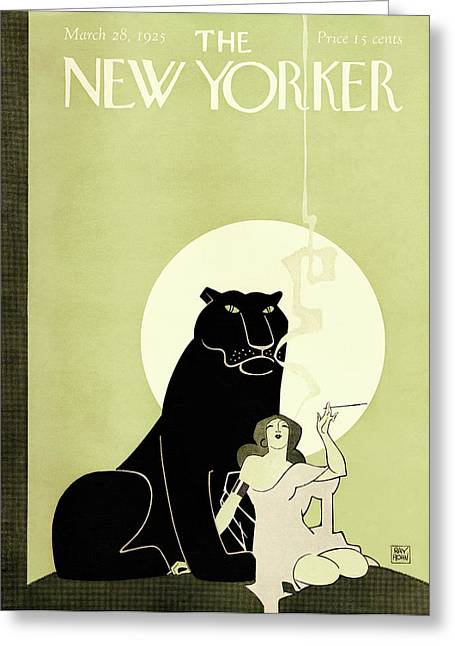 New Yorker March 28th, 1925 Greeting Card by Ray Rohn