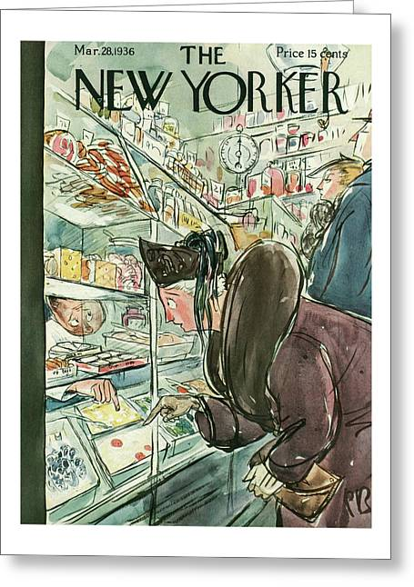 New Yorker March 28th, 1936 Greeting Card