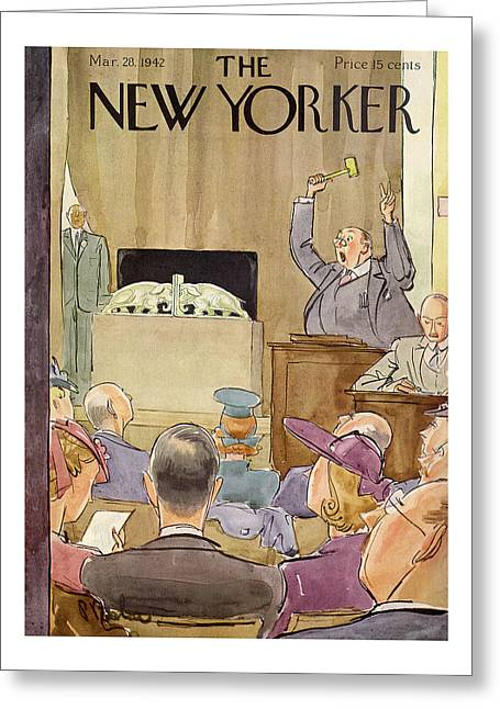 New Yorker March 28th, 1942 Greeting Card