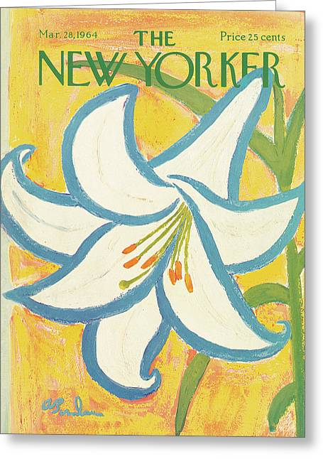 New Yorker March 28th, 1964 Greeting Card by Abe Birnbaum