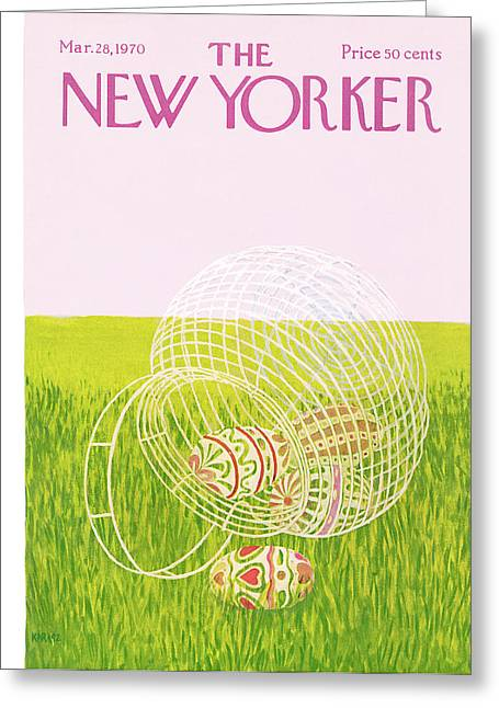 New Yorker March 28th, 1970 Greeting Card