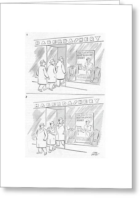 New Yorker March 29th, 1952 Greeting Card by Carl Rose