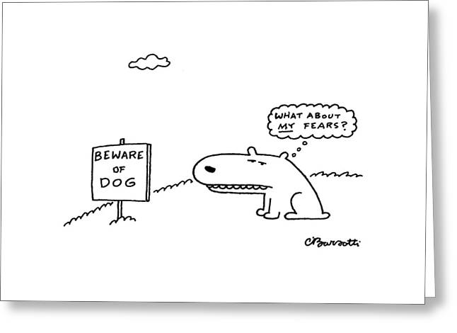 New Yorker March 29th, 1999 Greeting Card by Charles Barsotti