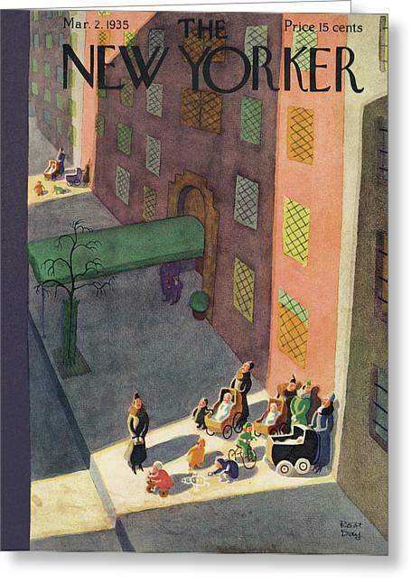 New Yorker March 2nd, 1935 Greeting Card by Robert J. Day