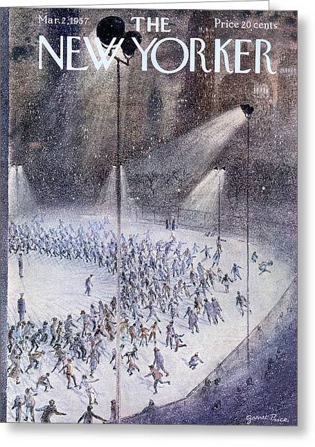 New Yorker March 2nd, 1957 Greeting Card