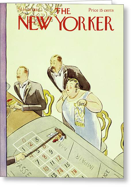 New Yorker March 3 1931 Greeting Card