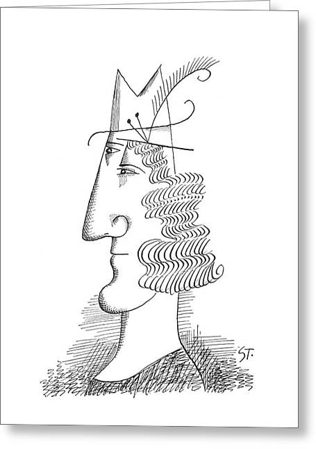 New Yorker March 30th, 1963 Greeting Card by Saul Steinberg