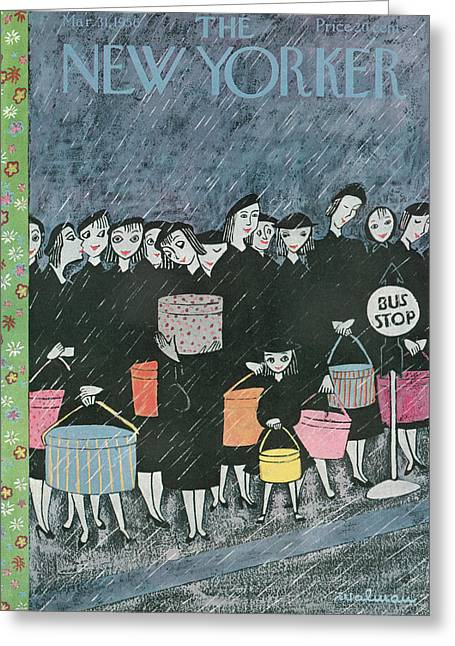 New Yorker March 31st, 1956 Greeting Card by Christina Malman