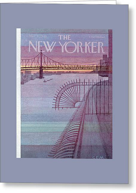 New Yorker March 31st, 1980 Greeting Card by Charles E. Martin