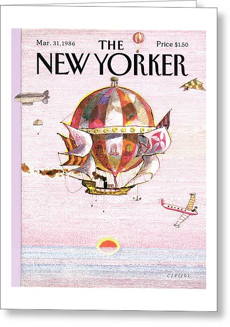 New Yorker March 31st, 1986 Greeting Card