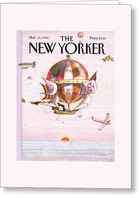 New Yorker March 31st, 1986 Greeting Card by Andrej Czeczot