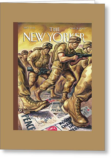 New Yorker March 31st, 2003 Greeting Card by Owen Smith