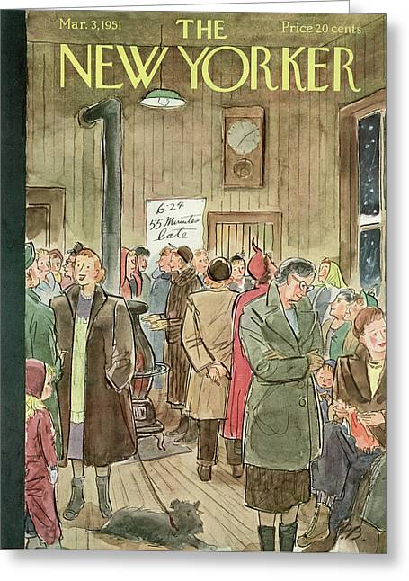 New Yorker March 3rd, 1951 Greeting Card by Perry Barlow