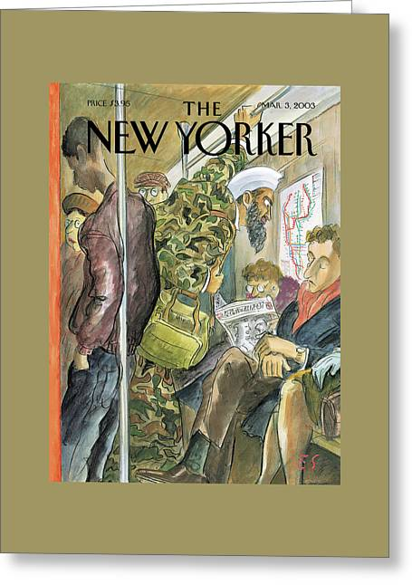 New Yorker March 3rd, 2003 Greeting Card by Edward Sorel