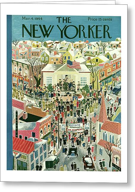 New Yorker March 4th, 1944 Greeting Card