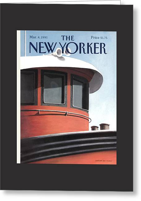 New Yorker March 4th, 1991 Greeting Card by Gretchen Dow Simpson