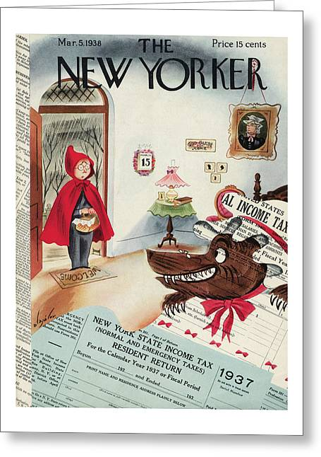 New Yorker March 5th, 1938 Greeting Card