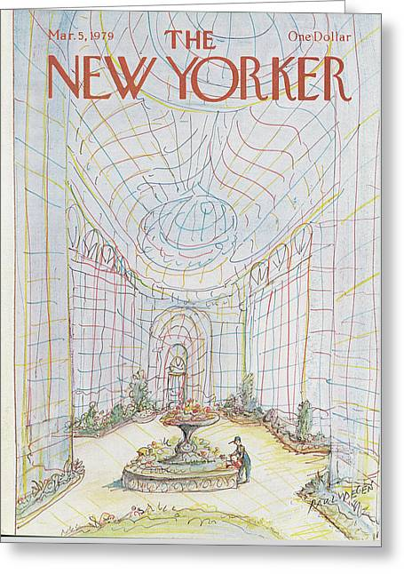 New Yorker March 5th, 1979 Greeting Card by Paul Degen