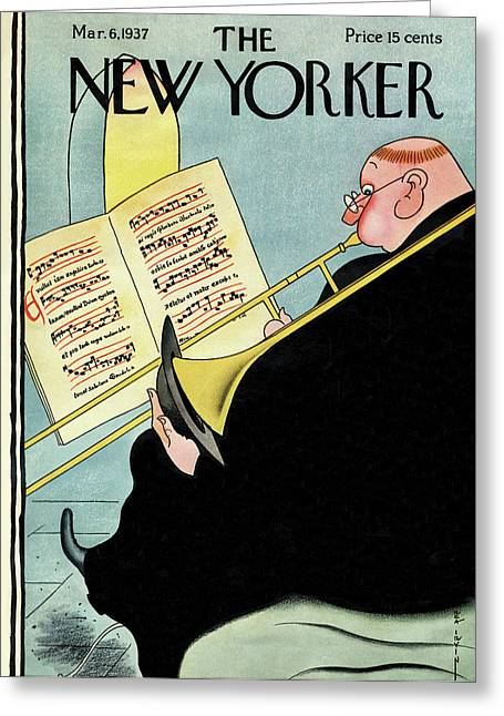 New Yorker March 6th, 1937 Greeting Card