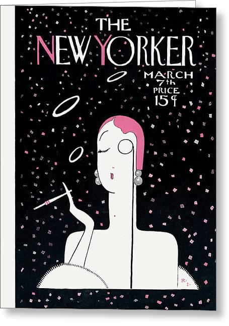 New Yorker March 7th, 1925 Greeting Card by Rea Irvin