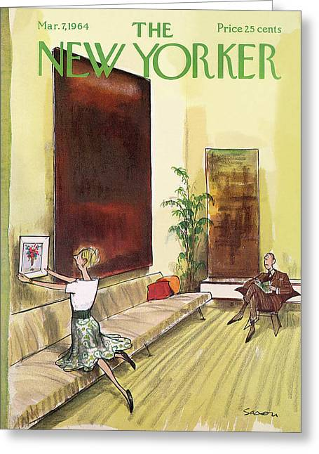 New Yorker March 7th, 1964 Greeting Card