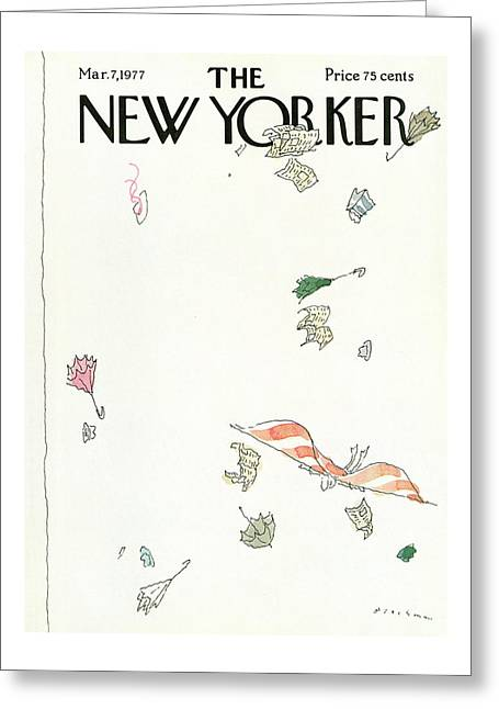 New Yorker March 7th, 1977 Greeting Card