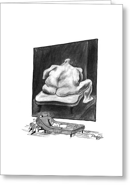 New Yorker March 7th, 1994 Greeting Card by Peter Porges