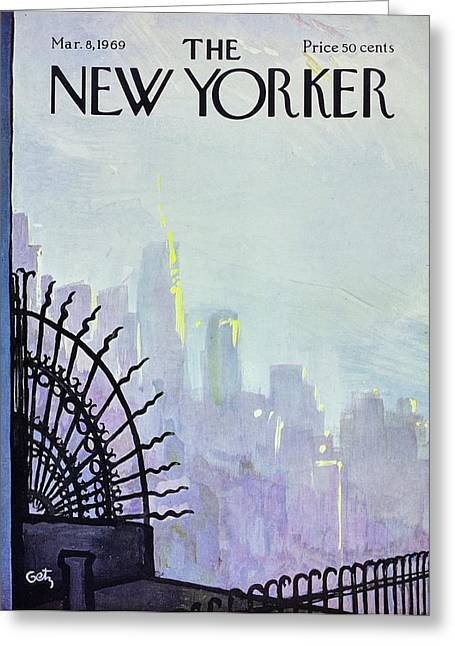 New Yorker March 8th 1969 Greeting Card