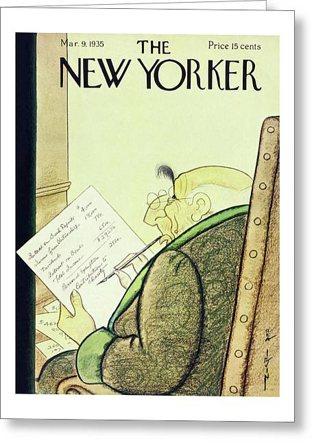 New Yorker March 9 1935 Greeting Card