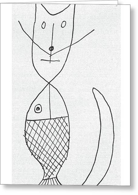 New Yorker March 9th, 1957 Greeting Card by Saul Steinberg
