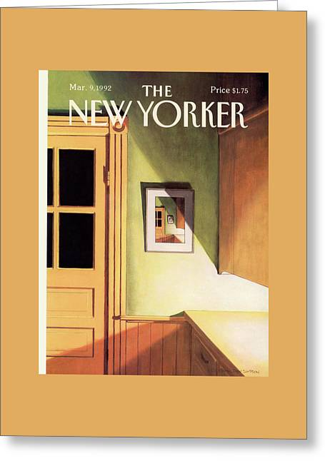 New Yorker March 9th, 1992 Greeting Card by Gretchen Dow Simpson