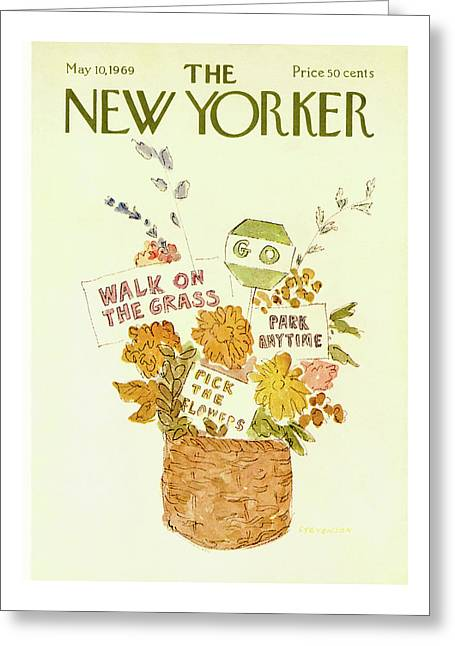 New Yorker May 10th, 1969 Greeting Card