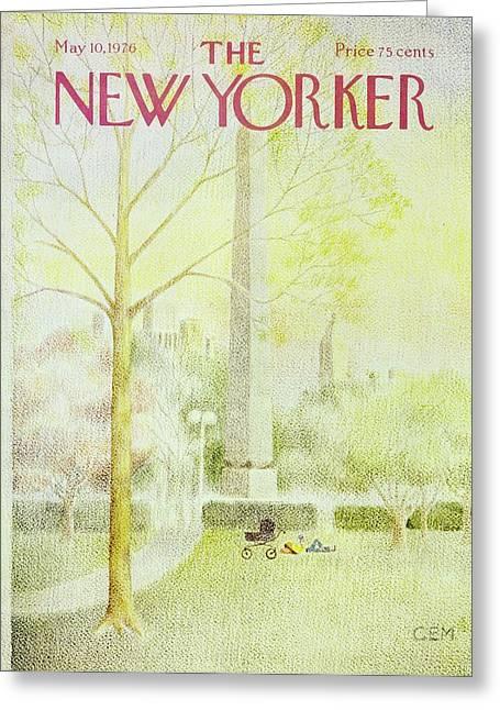New Yorker May 10th 1976 Greeting Card
