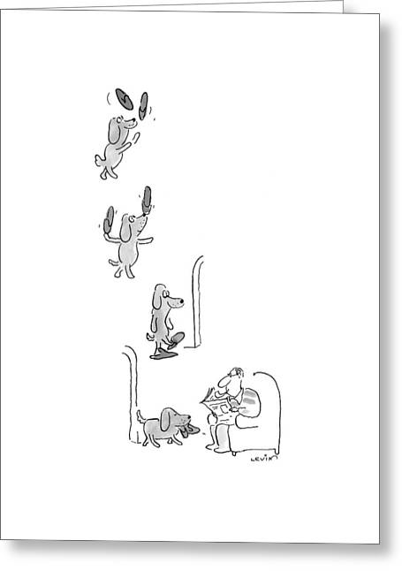 New Yorker May 10th, 1999 Greeting Card by Arnie Levin