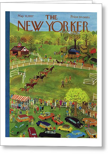 New Yorker May 11th, 1957 Greeting Card