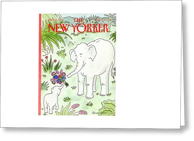 New Yorker May 11th, 1992 Greeting Card by Danny Shanahan