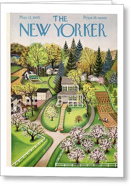 New Yorker May 12th, 1945 Greeting Card