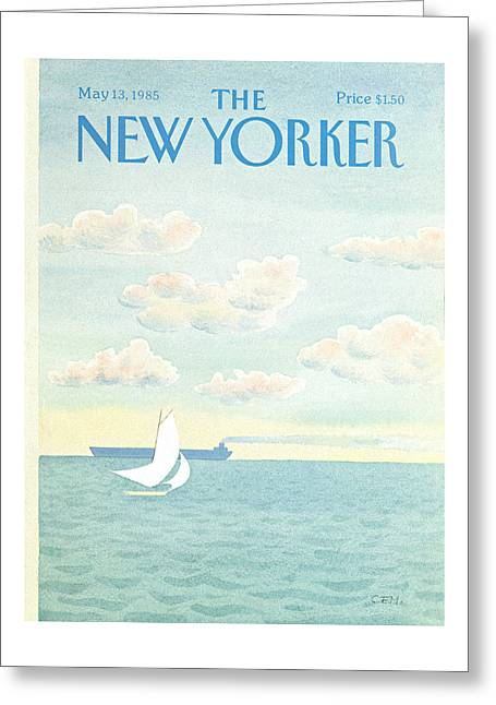 New Yorker May 13th, 1985 Greeting Card